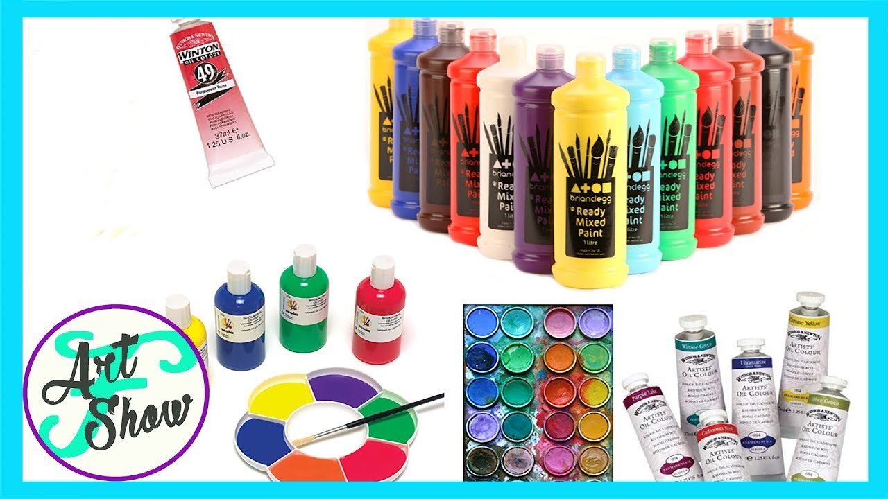 Different types of art paint